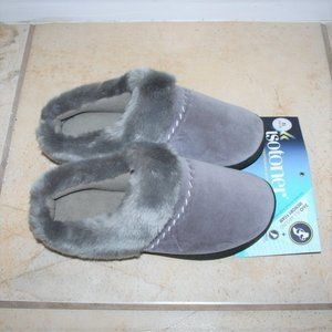 NWT Isotoner Grey Slippers 9.5/10 XL
